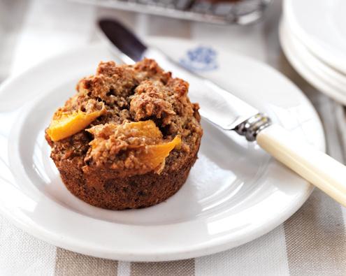 Peach and Weet Bix Muffins