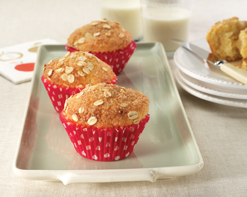 Pear and Vanilla Crumble Muffins