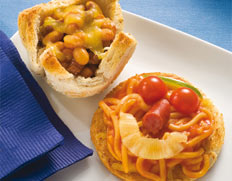 Spaghetti Faces and Mince Bean Savouries