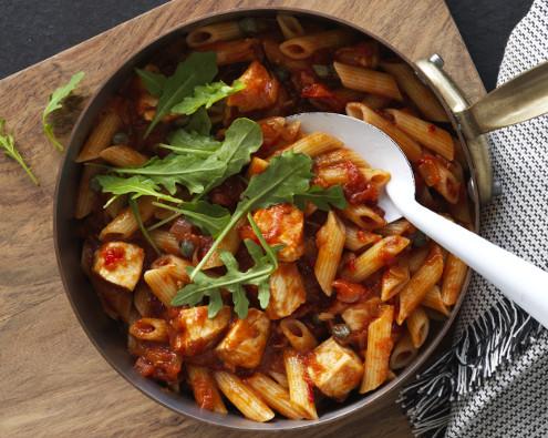 Spicy Chicken and Tomato Arrabiatta