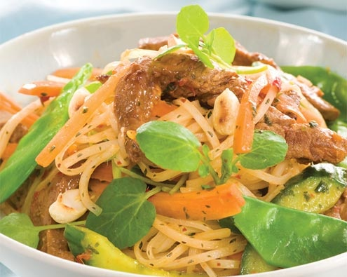 Warm Asian Lamb Salad