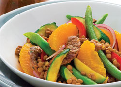 Warm Lamb Lentil Summer Salad