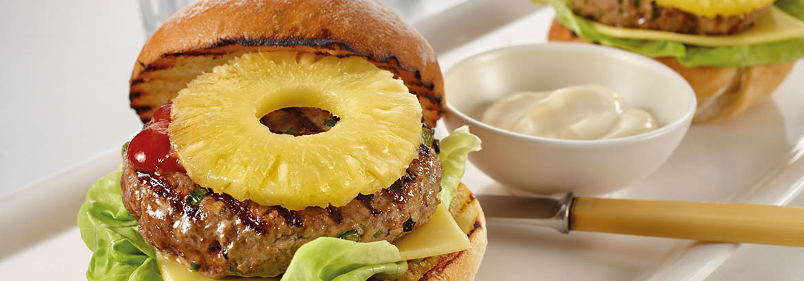 Beef Burger with Pineapple