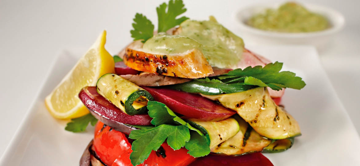 Chargrilled Chicken & Vegetable Stack