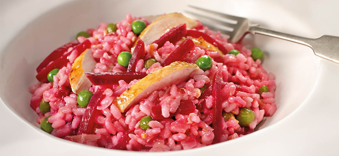 Leek, Chicken & Beetroot Risotto