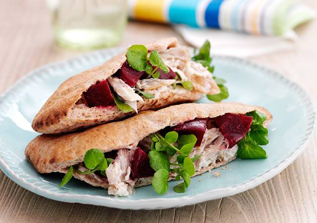 Mackerel & Beetroot Pitas