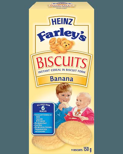 Biscuits Farley's de Heinz à la banane