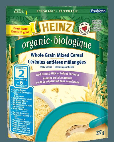 Céréales entières mélangées biologiques