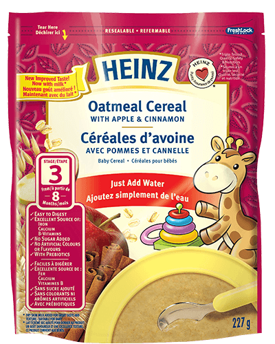 Oatmeal Cereal with Apple & Cinnamon title=