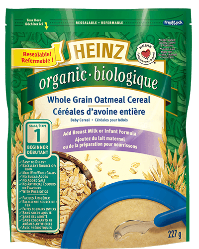 Organic Whole Grain Oatmeal Cereal title=