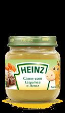 Heinz Papinha de carne com legumes e arroz