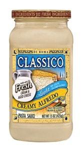 New Product Launch – Classico Light Creamy Alfredo Pasta Sauce
