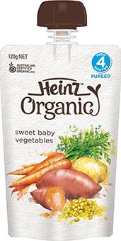 Heinz Organic Sweet Baby Vegetables