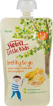 Little Kids Banana Mango Muesli with Greek Style Yoghurt