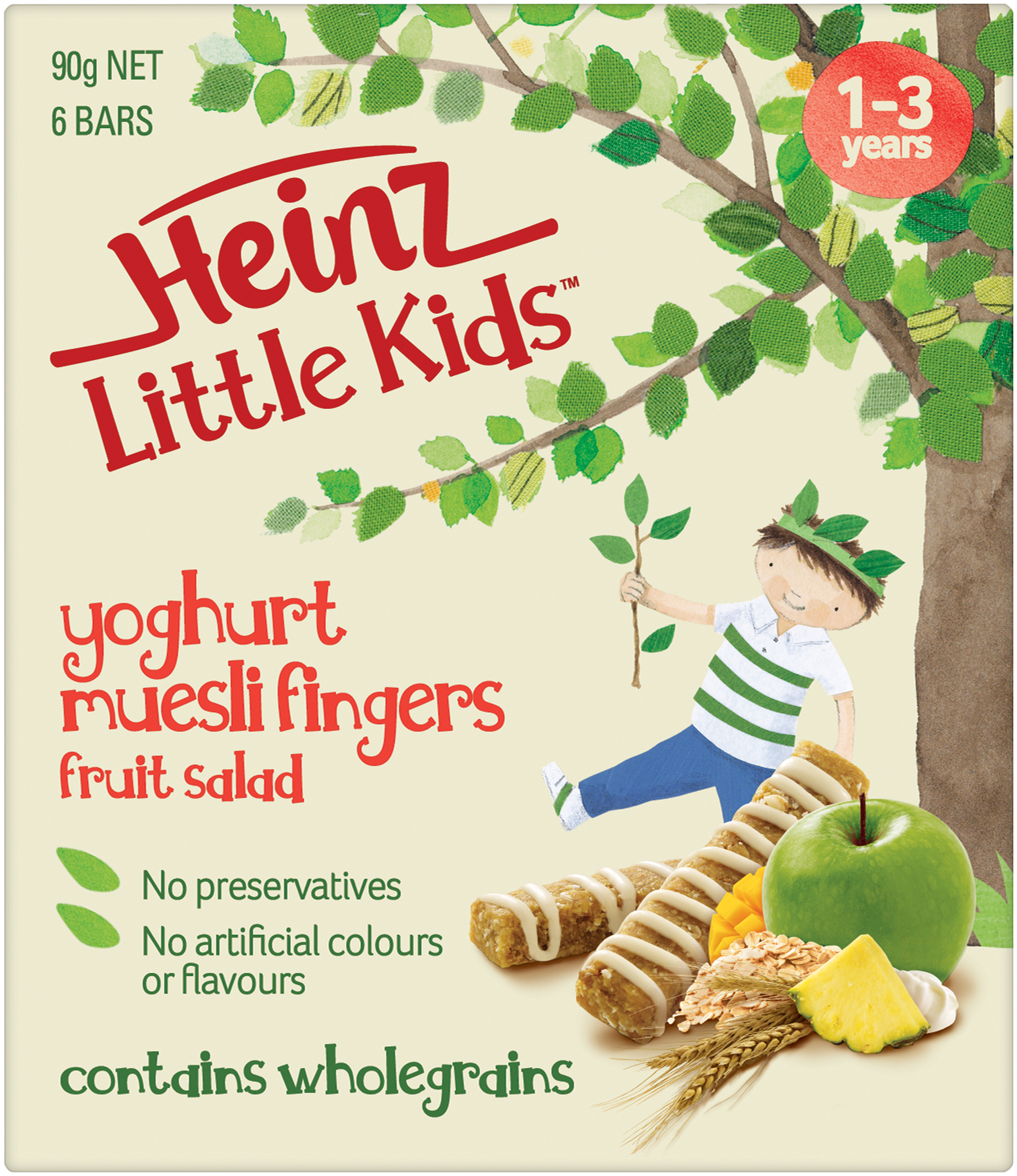 Heinz Little Kids Fruit Salad Yoghurt Muesli Fingers