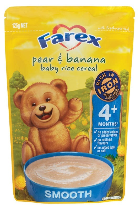 Farex Pear & Banana Baby Rice Cereal