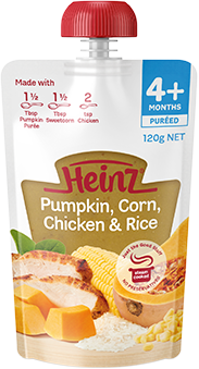Heinz Pumpkin, Corn, Chicken & Rice