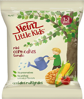 Little Kids Corn Cakes Tomato