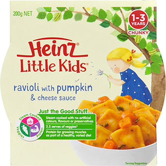Little Kids Ravioli with Pumpkin & Cheese Sauce