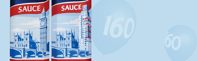 HP Sauce commemorates 160th birthday of Big Ben with scaffolded Houses of Parliament label