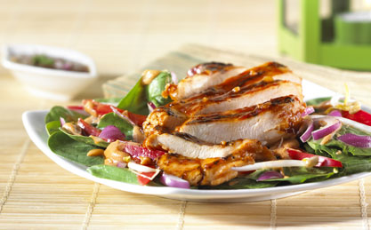 Thai Style Chicken and Spinach Salad image