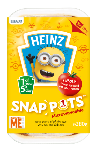 Minions Pasta Shapes Snap Pots