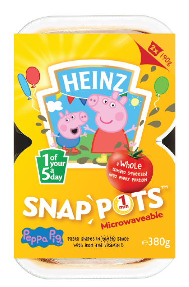 Peppa Pig Pasta Shapes Snap Pots