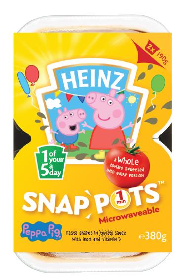 Peppa Pig Pasta Shapes Snap Pots