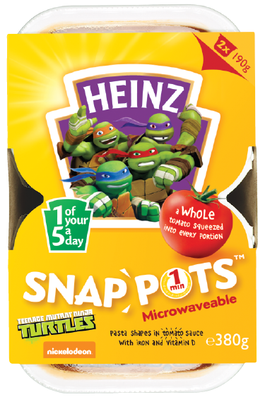 Teenage Mutant Ninja Turtles Pasta Shapes Snap Pots