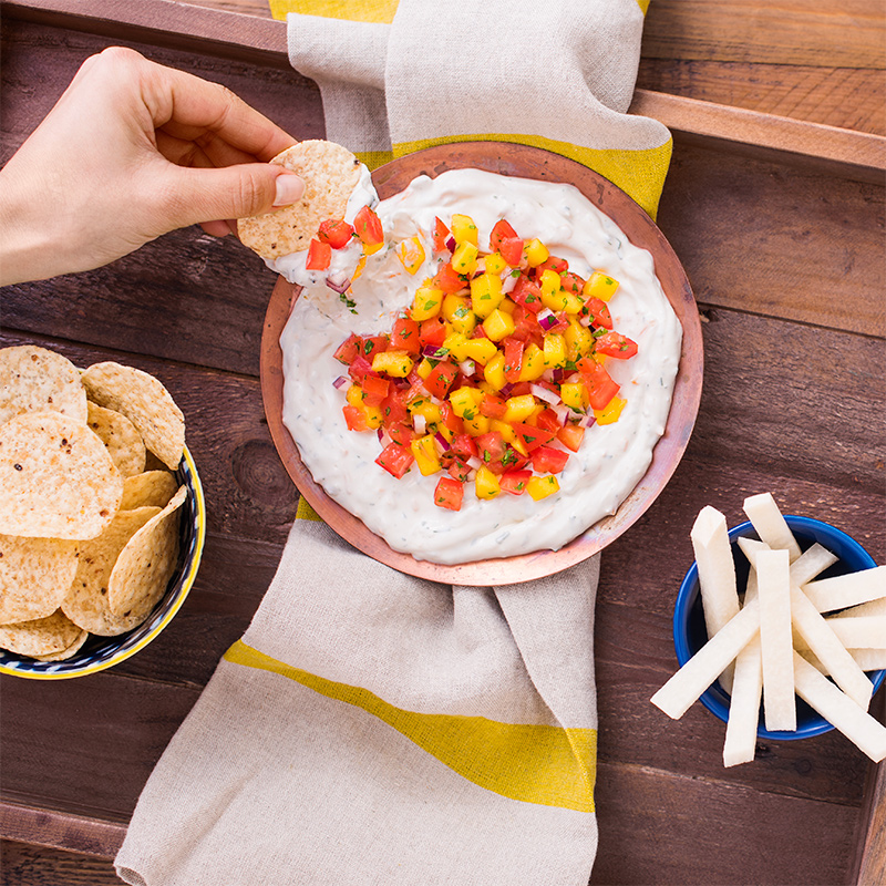 Creamy Jalapeño-Mango Salsa Dip Image
