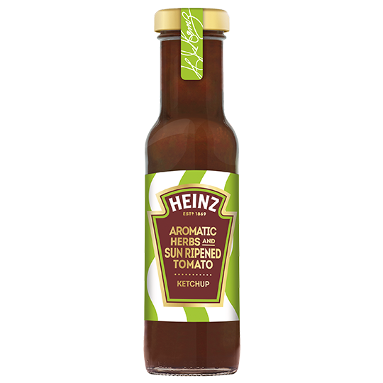 Aromatic Herbs & Sun Ripened Tomato Ketchup