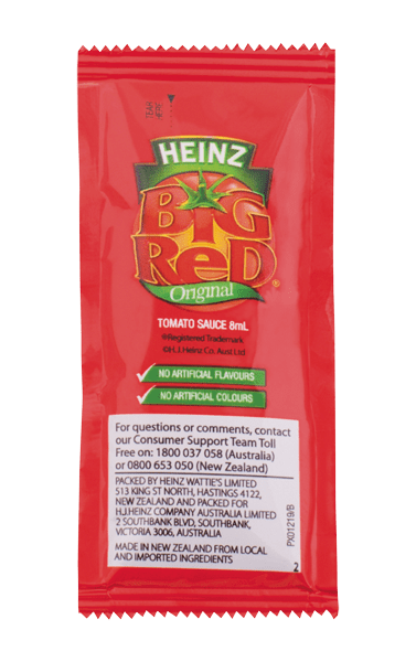 Heinz Big Red Tomato Sauce Portion 8mL image