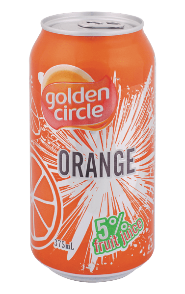 Golden Circle Orange Soft Drink 375mL