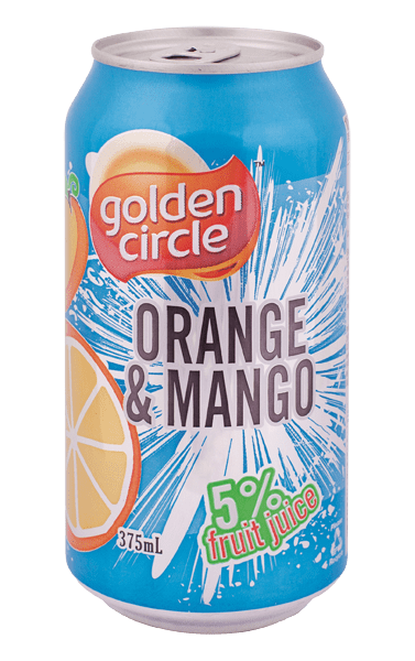 Golden Circle Orange Mango Soft Drink 375mL