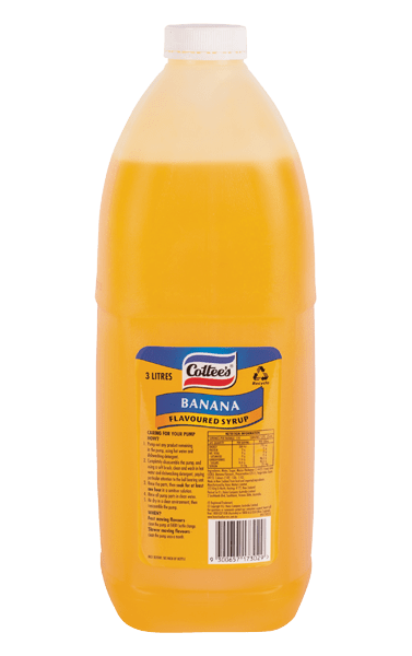 Cottee's Banana Topping 3L