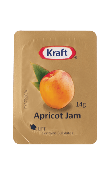 Kraft Apricot Jam Portion 14g