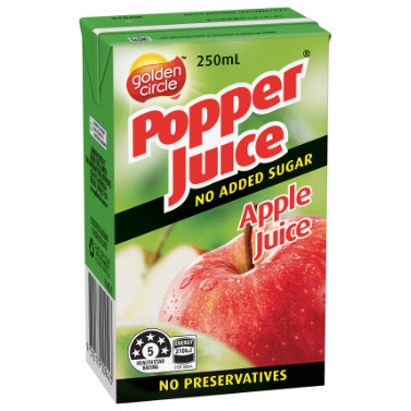 Golden Circle Popper Apple Juice 250mL image