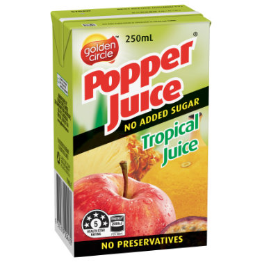 Golden Circle Popper Tropical Juice 250mL image