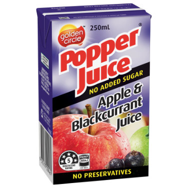 Golden Circle Popper Apple Blackcurrant Juice 250mL image