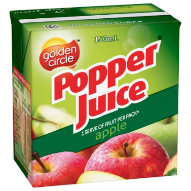 Golden Circle Popper Apple Juice 150mL image