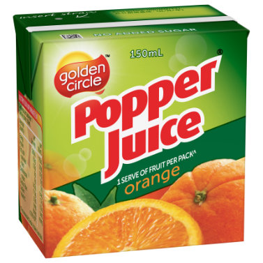 Golden Circle Popper Orange Juice 150mL image