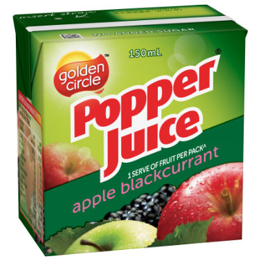 Golden Circle Popper Apple Blackcurrant Juice 150mL image