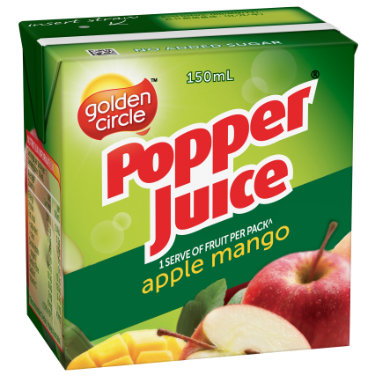 Golden Circle Popper Apple Mango Juice 150mL image