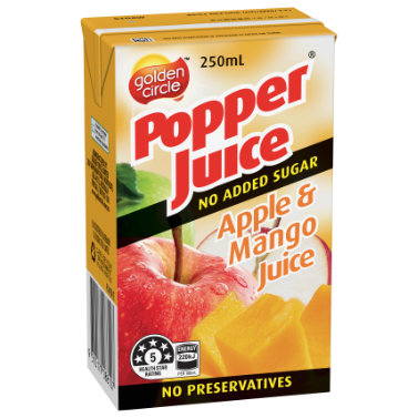 Golden Circle Popper Apple Mango Juice 250mL image