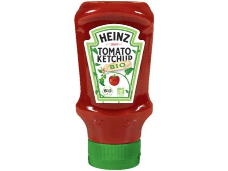 Heinz Tomato Ketchup BIO 500ml Flacon Souple Top Down image