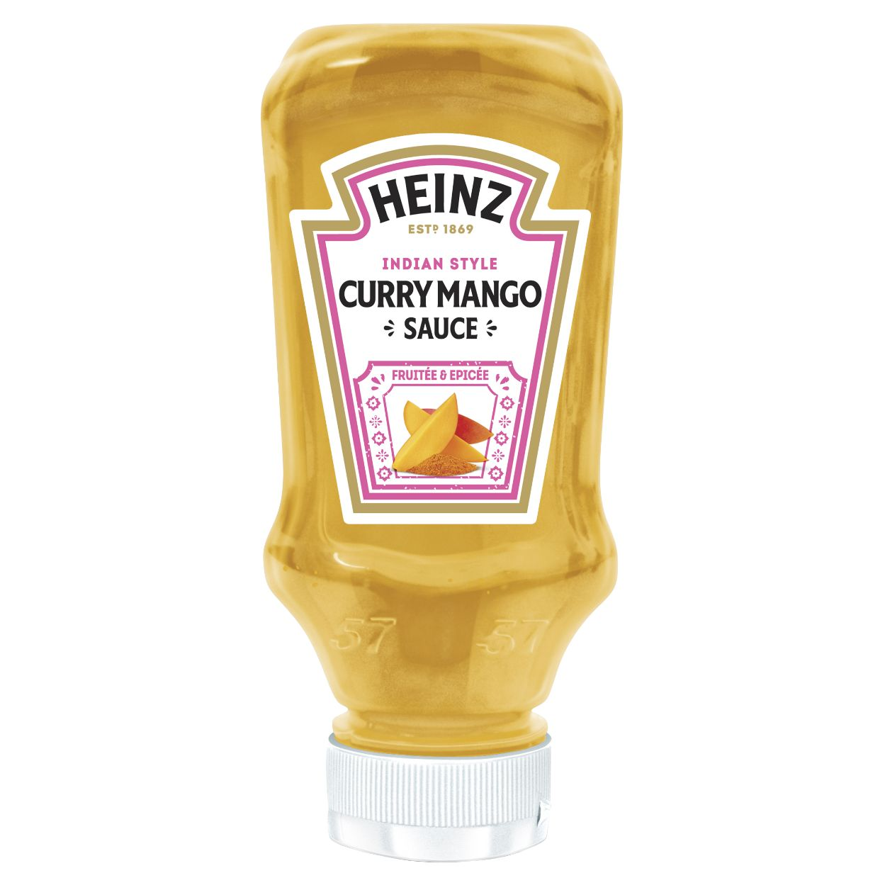 Heinz Sauce Curry Mango 220ml Flacon Souple Top Down image