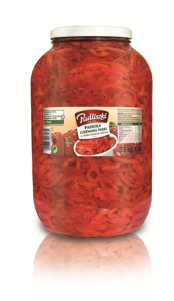 Papryka czerwona paski Pudliszki 3.5kg szklany słoik image