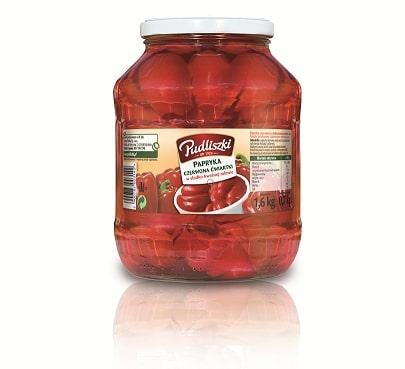 Papryka czerwona ćwiartki Pudliszki 1.6kg szklany słoik image