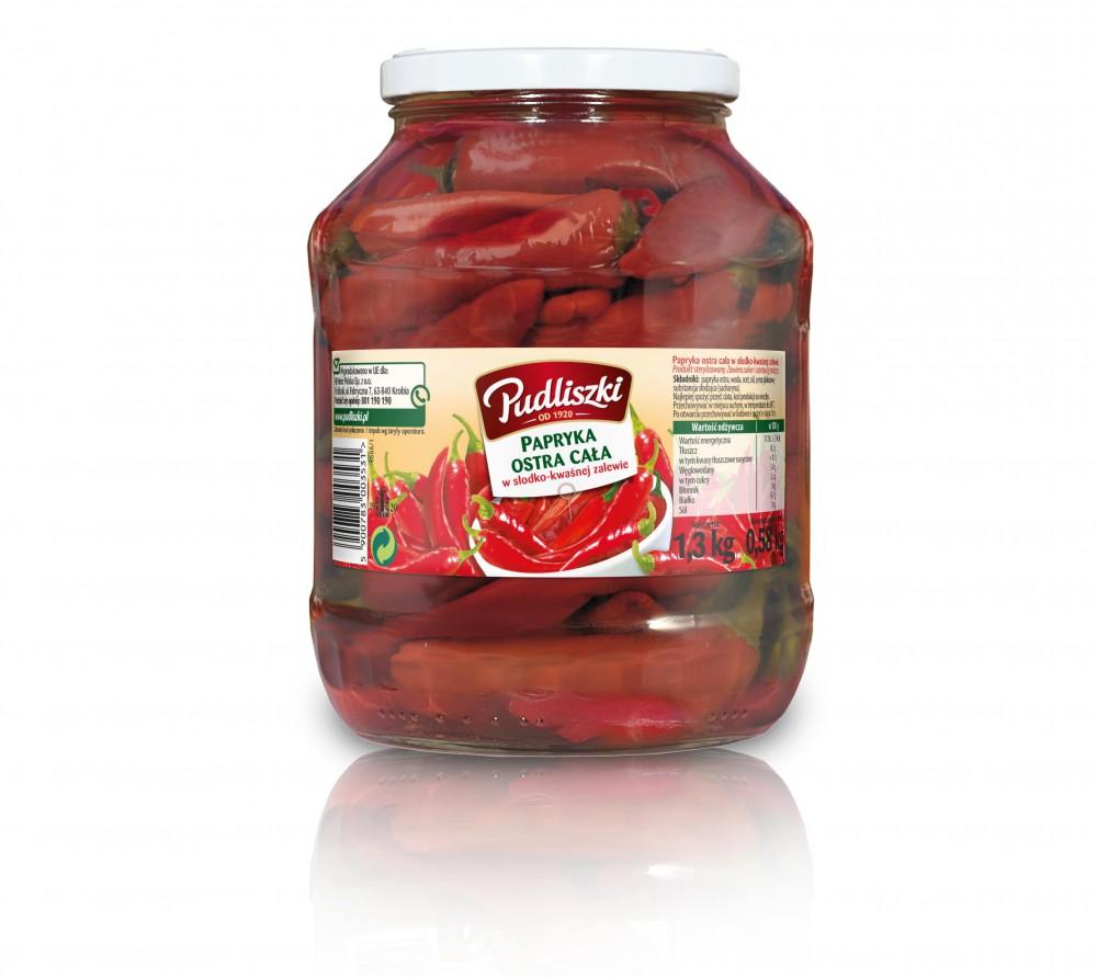 Papryka ostra Pudliszki 1.3kg szklany słoik image