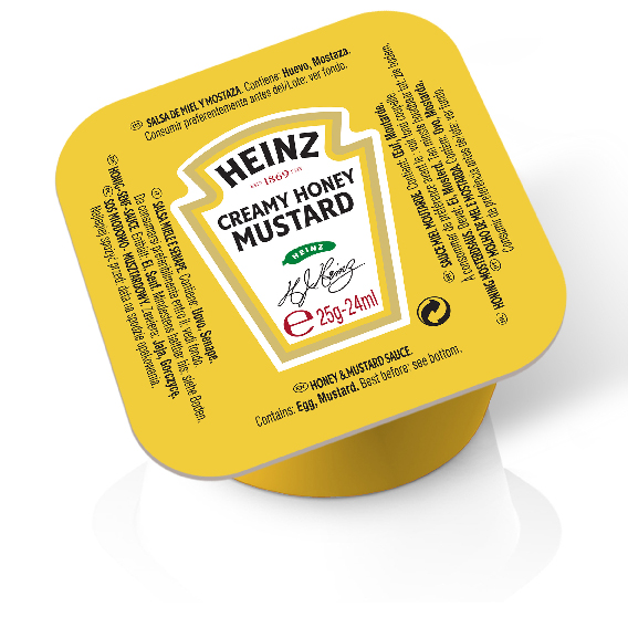 Heinz Cream Honey Mustard 25gm Dip Pot image